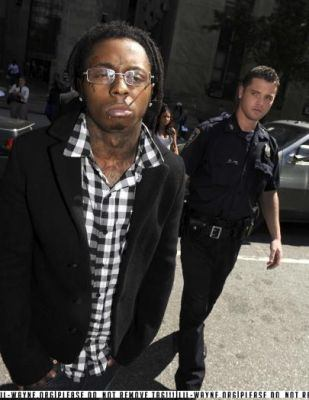 Lil Wayne Outside of New York Court Room